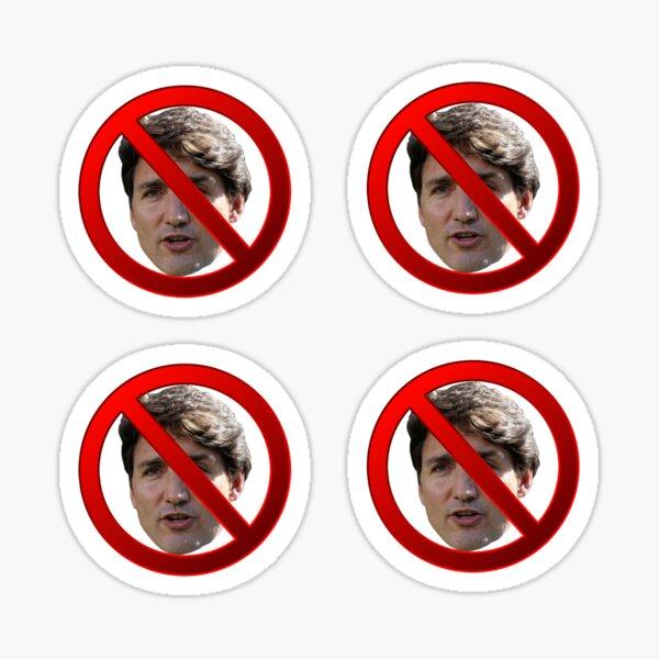 Trudeau Not Allowed 4pack stickers Sticker