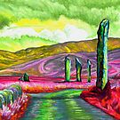 Stenness Stones in Red and Pink by AnyaPenfold