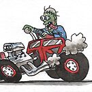 Hot Rod Zombie Monster by Lee Twigger