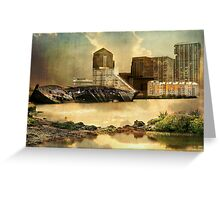 Canary Wharf London Banking Sector Greeting Card