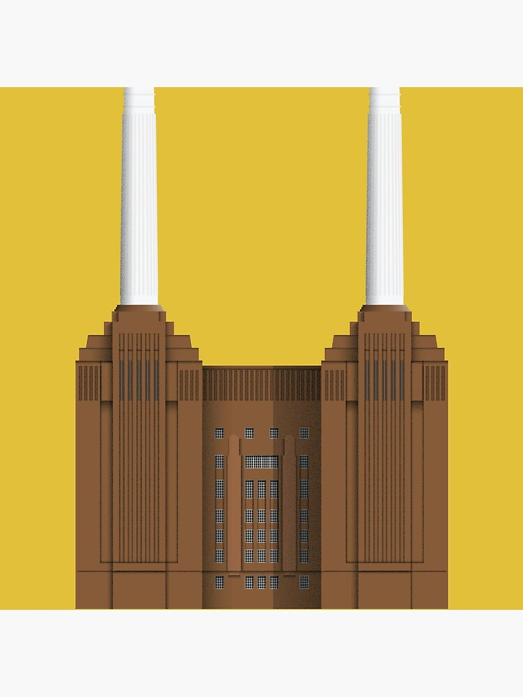 Battersea Power Station - London Architecture - Illustrated City- Art Deco by lukasnovo