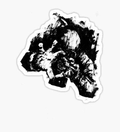 Leroy (Messy Ink Sketch) Sticker