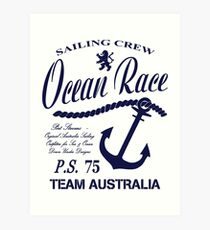 Ocean race sailing crew Art Print