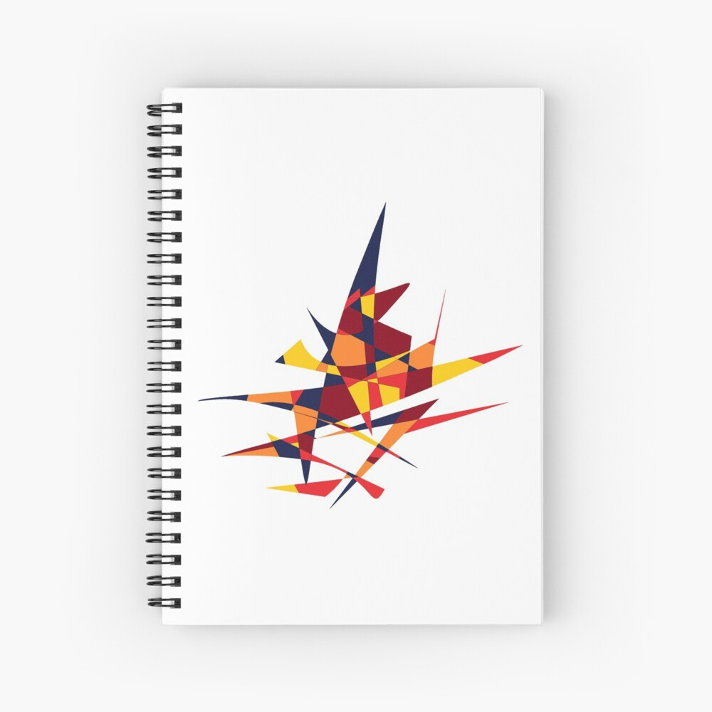 Wizard's Hat, Abstract (Designed by Just Stories) Spiral Notebook