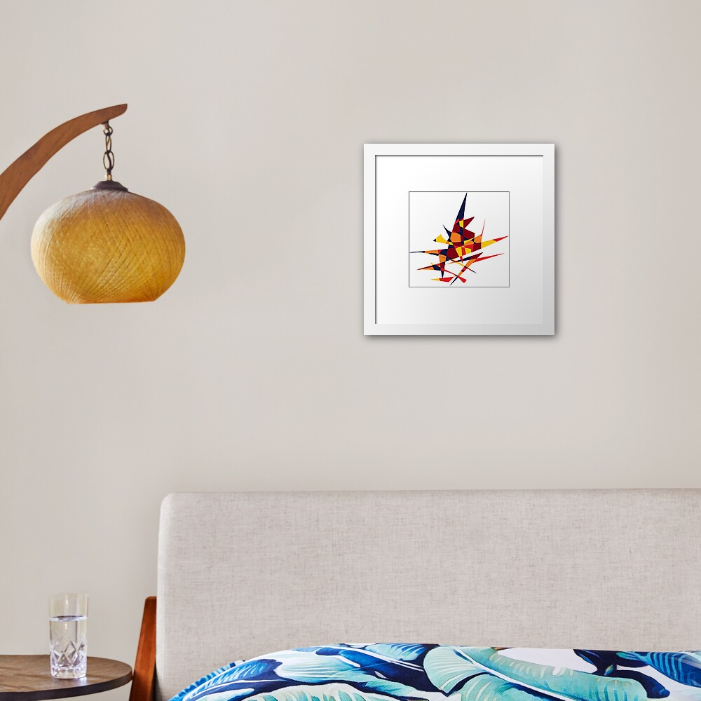 Wizard's Hat, Abstract (Designed by Just Stories) Framed Art Print