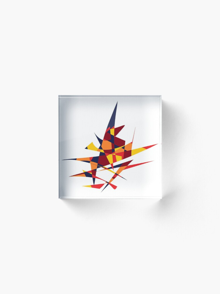 Alternate view of Wizard's Hat, Abstract (Designed by Just Stories) Acrylic Block