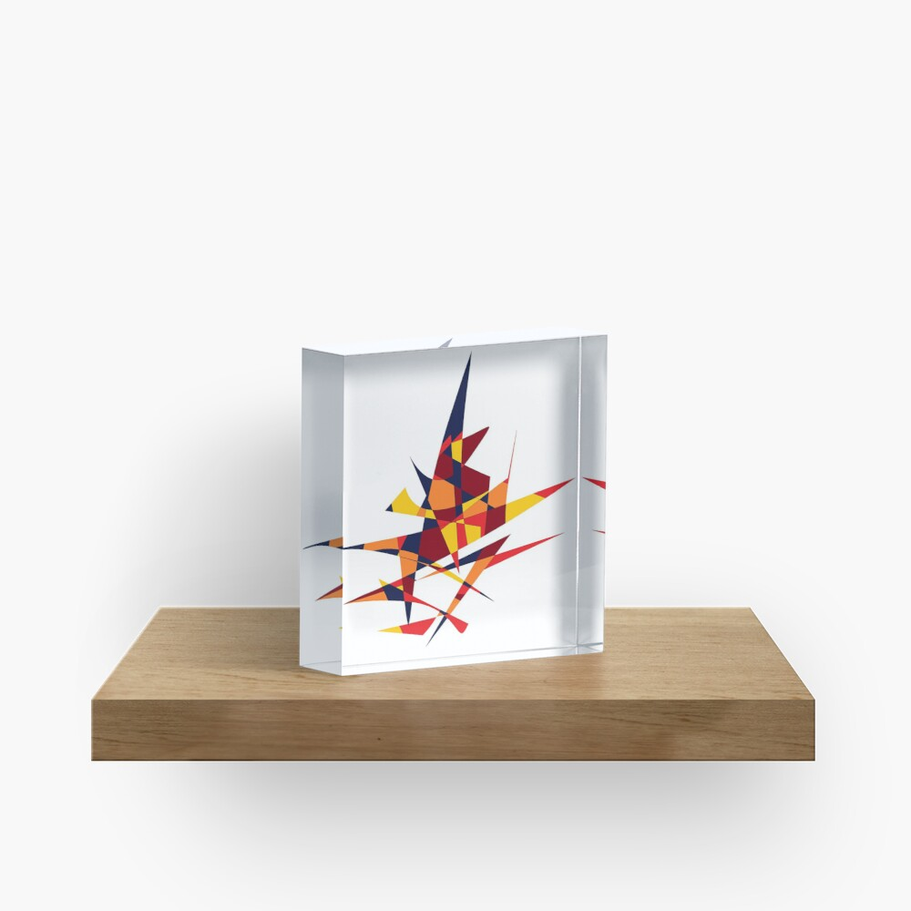 Wizard's Hat, Abstract (Designed by Just Stories) Acrylic Block