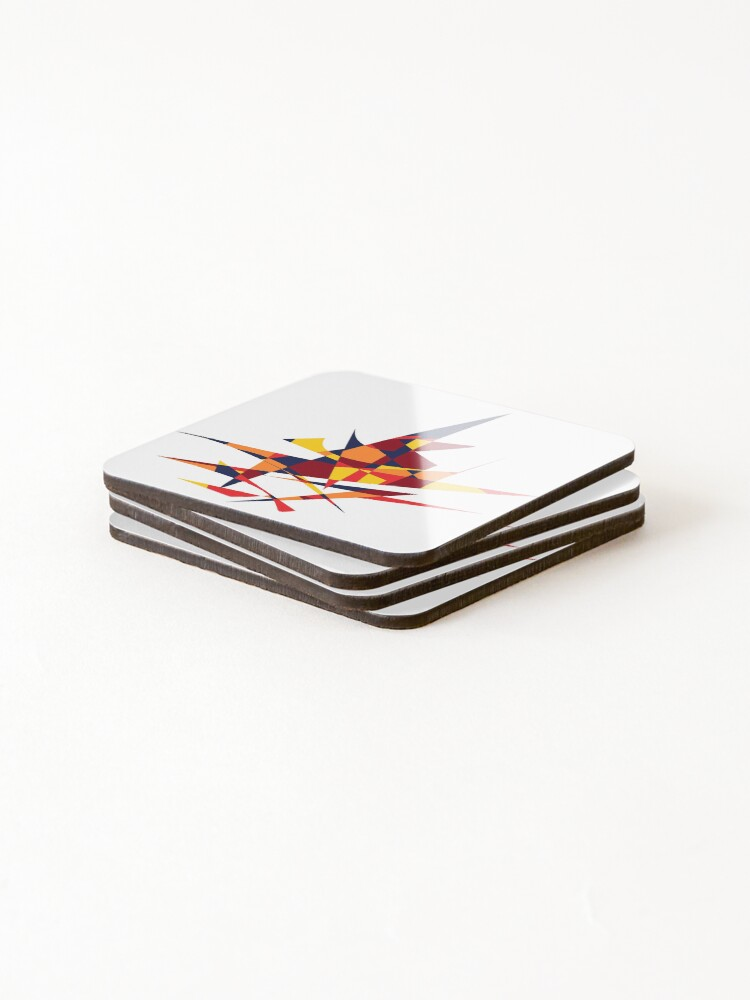 Alternate view of Wizard's Hat, Abstract (Designed by Just Stories) Coasters (Set of 4)