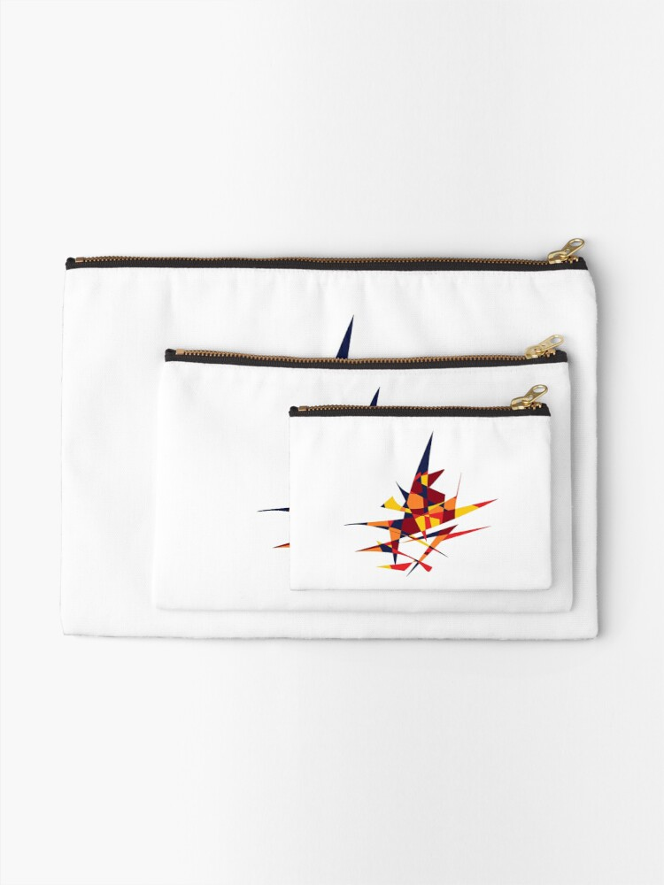 Alternate view of Wizard's Hat, Abstract (Designed by Just Stories) Zipper Pouch