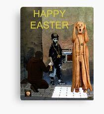 The Scream World Tour  street art Happy Easter Canvas Print