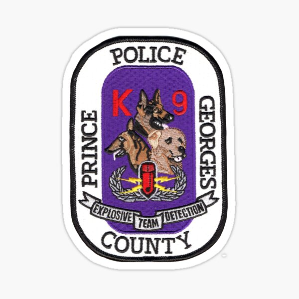 Prince George's County K9 Bomb Squad Sticker