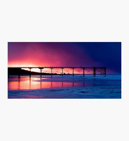 Saltburn Pier Sunset Photographic Print
