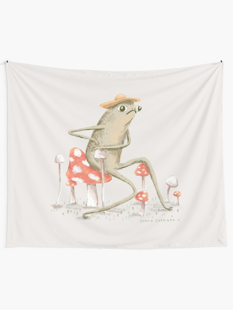 Alternate view of Awkward Toad Tapestry