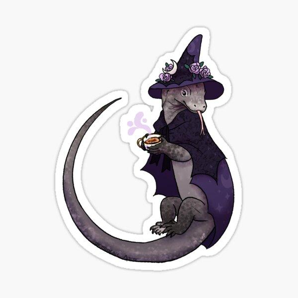 Komodo Dragon Witch Sticker