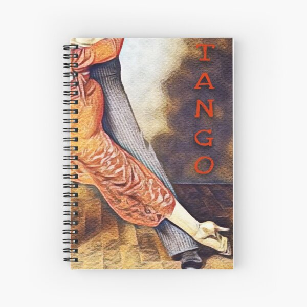 Tango Performance Digital Art Spiral Notebook