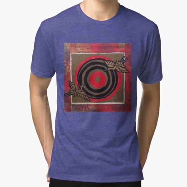 Flying Cranes Tri-blend T-Shirt