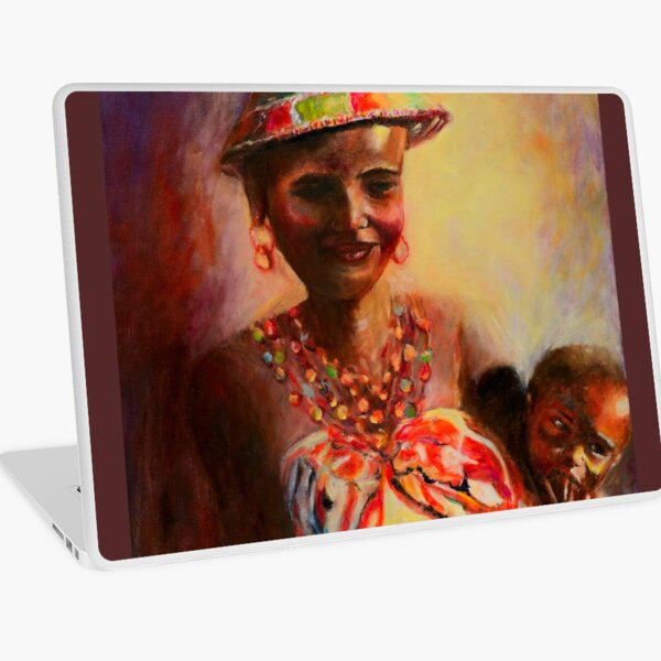 African Mother and Child Laptop Skin