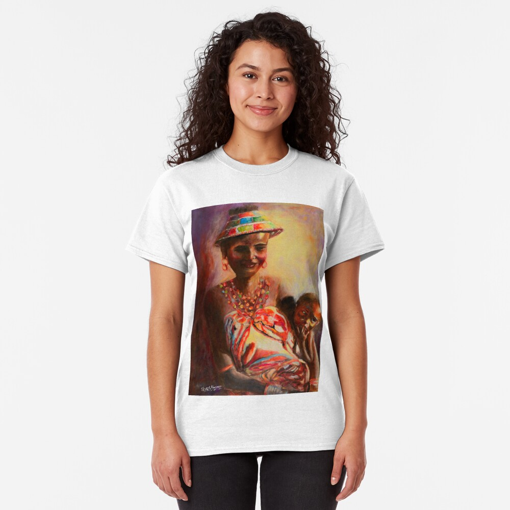 African Mother and Child Classic T-Shirt