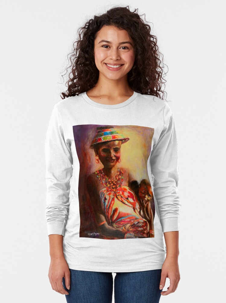 Alternate view of African Mother and Child Long Sleeve T-Shirt