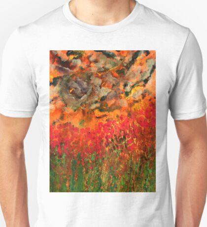 Misty Poppy Field T-Shirt