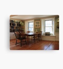 Lothrop Room, Sturgis Library Canvas Print