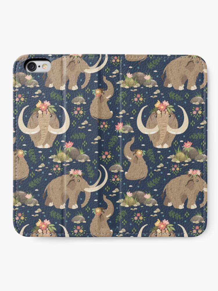 Alternate view of Cute mammoths iPhone Wallet