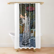Happy Christmas Angel Shower Curtain