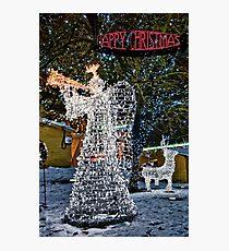 Happy Christmas Angel Photographic Print
