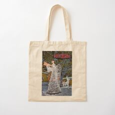 Happy Christmas Angel Cotton Tote Bag