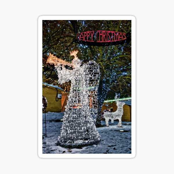 Happy Christmas Angel Sticker