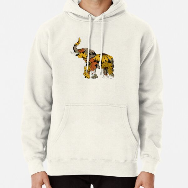 Sunflower Elephant - Color Pullover Hoodie