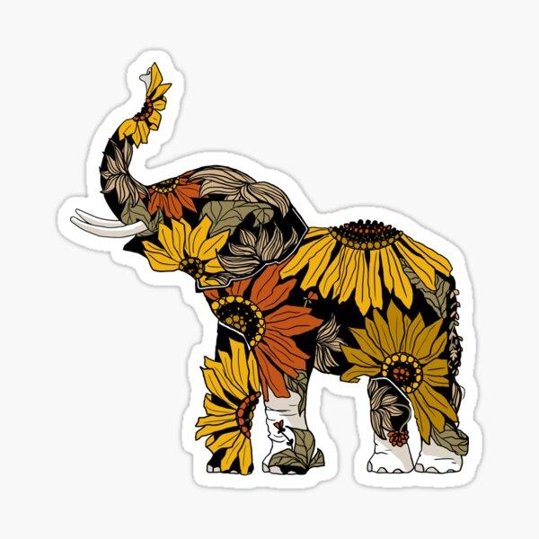 Sunflower Elephant - Color Sticker