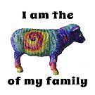 I am the rainbow tie dye sheep of my family V.3 by Chrissy Ferguson