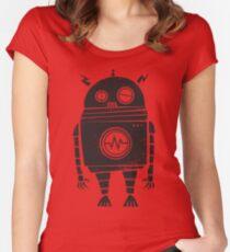Großer Roboter 2.0 Tailliertes Rundhals-Shirt