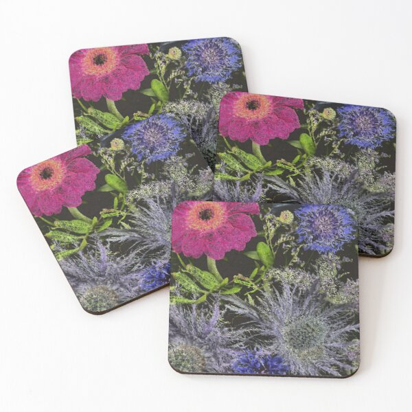 Midnight Floral Mix Coasters (Set of 4)