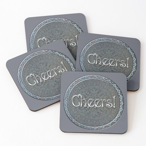 Steampunk Cheers! Coasters (Set of 4)