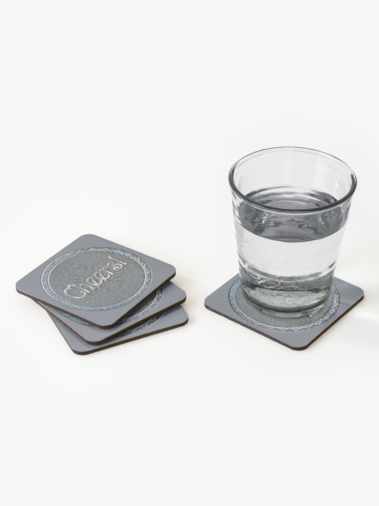 Alternate view of Steampunk Cheers! Coasters (Set of 4)