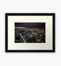 Melbourne at Night (fine colour marker) Framed Print