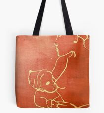 mother and child (red) Tote Bag