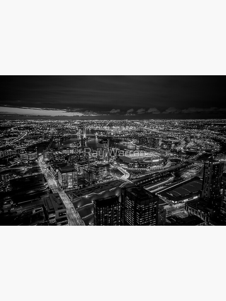 Melbourne at Night (black & white) by RayW