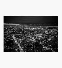 Melbourne at Night (black & white) Photographic Print