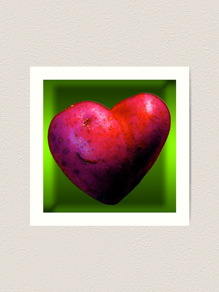 Alternate view of I LOVE Spuds! Art Print