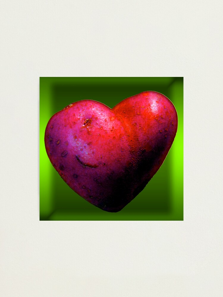 Alternate view of I LOVE Spuds! Photographic Print