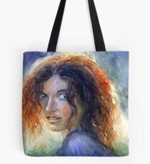 Woman in a sun portrait Svetlana Novikova Tote Bag