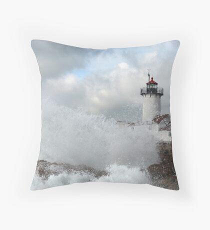 Roller hits Eastern Point - Gloucester, Massachusetts Throw Pillow