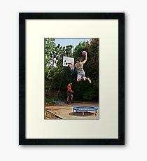 Slam-dunk Framed Print
