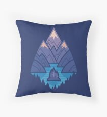 Mountain Lake : Dark Blue Floor Pillow