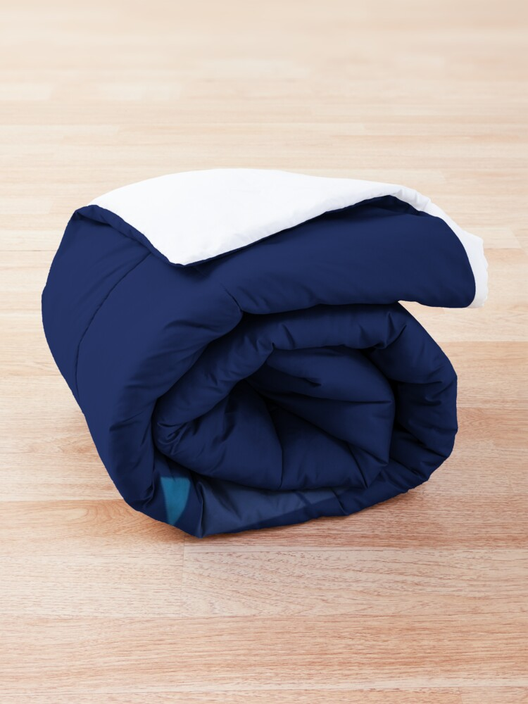 Alternate view of Mountain Lake : Dark Blue Comforter