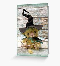 Merlin Mouse, Halloween Bear - Handmade bears from Teddy Bear Orphans Greeting Card