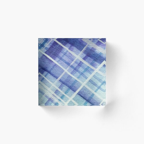Sky Walker Plaid Acrylic Block